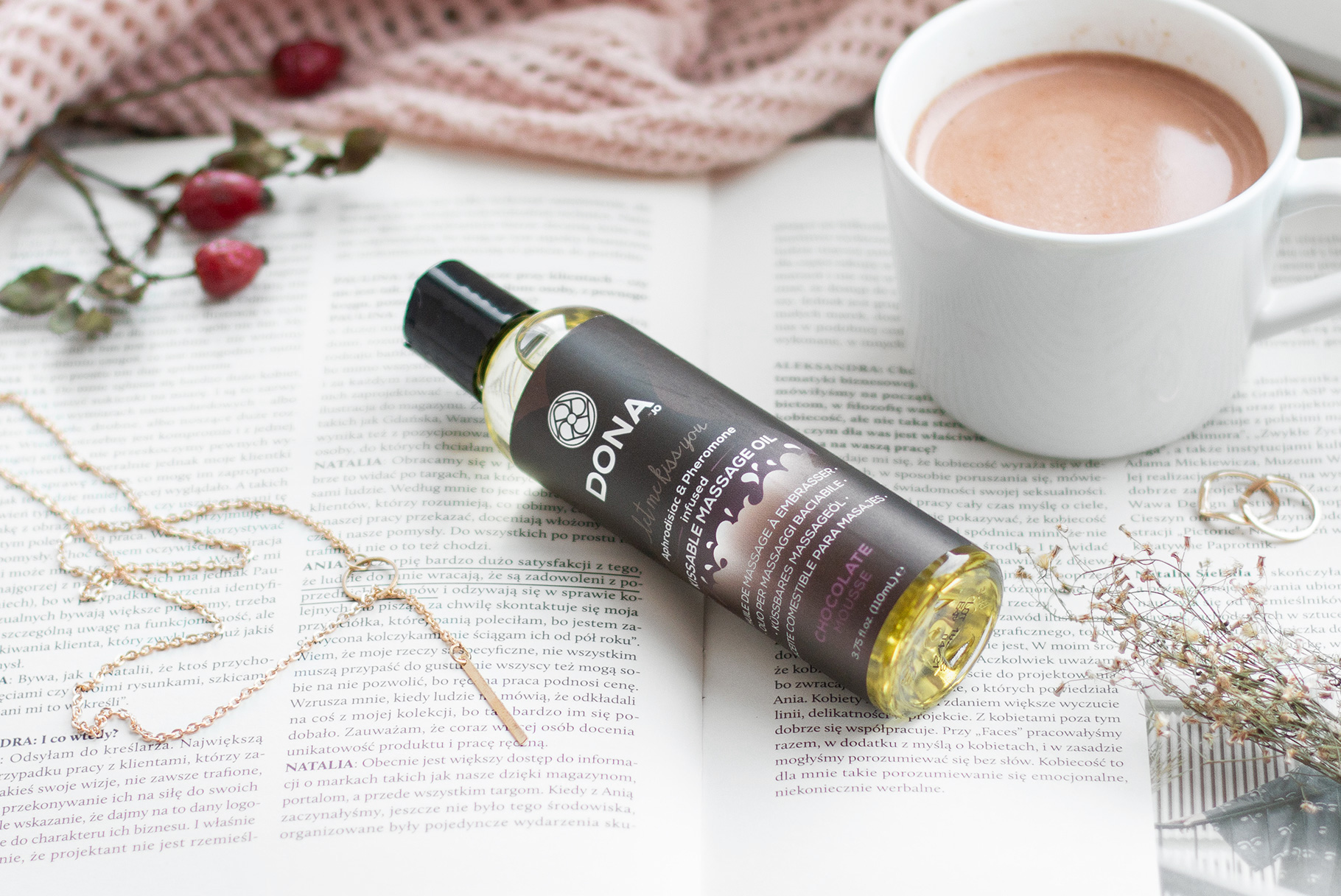 Czekoladowy olejek do masażu Dona na długie, jesienne wieczory | Recenzja